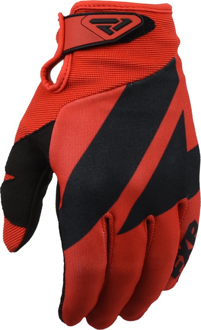 FXR Clutch Strap Motocross Handschuhe, schwarz-rot, Größe XL, schwarz-rot, Größe XL