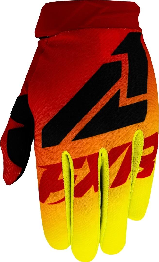 FXR Clutch Strap MX Gear Motocross Handschuhe, schwarz-rot-gelb, Größe XL, schwarz-rot-gelb, Größe XL