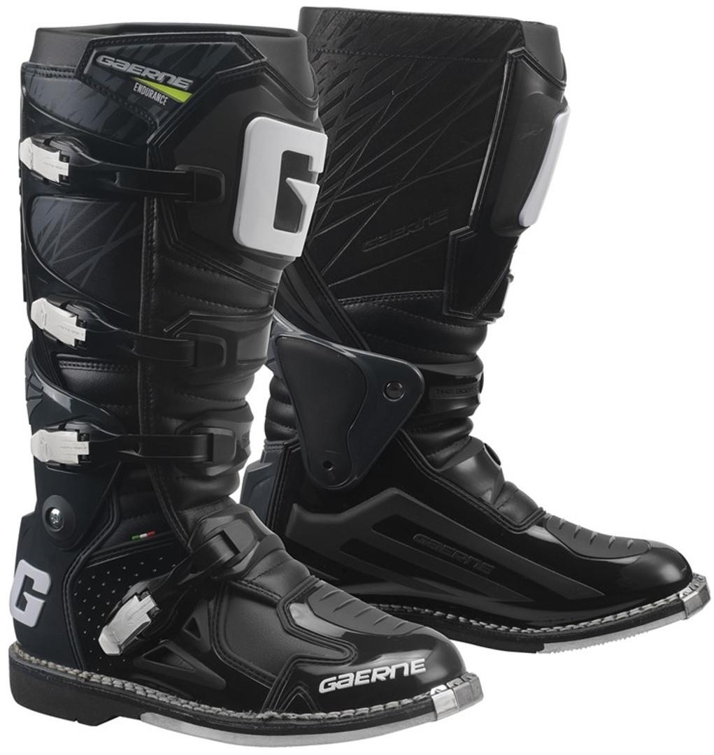 Gaerne Fastback Endurance Motocross Stiefel, schwarz, Größe 47, schwarz, Größe 47