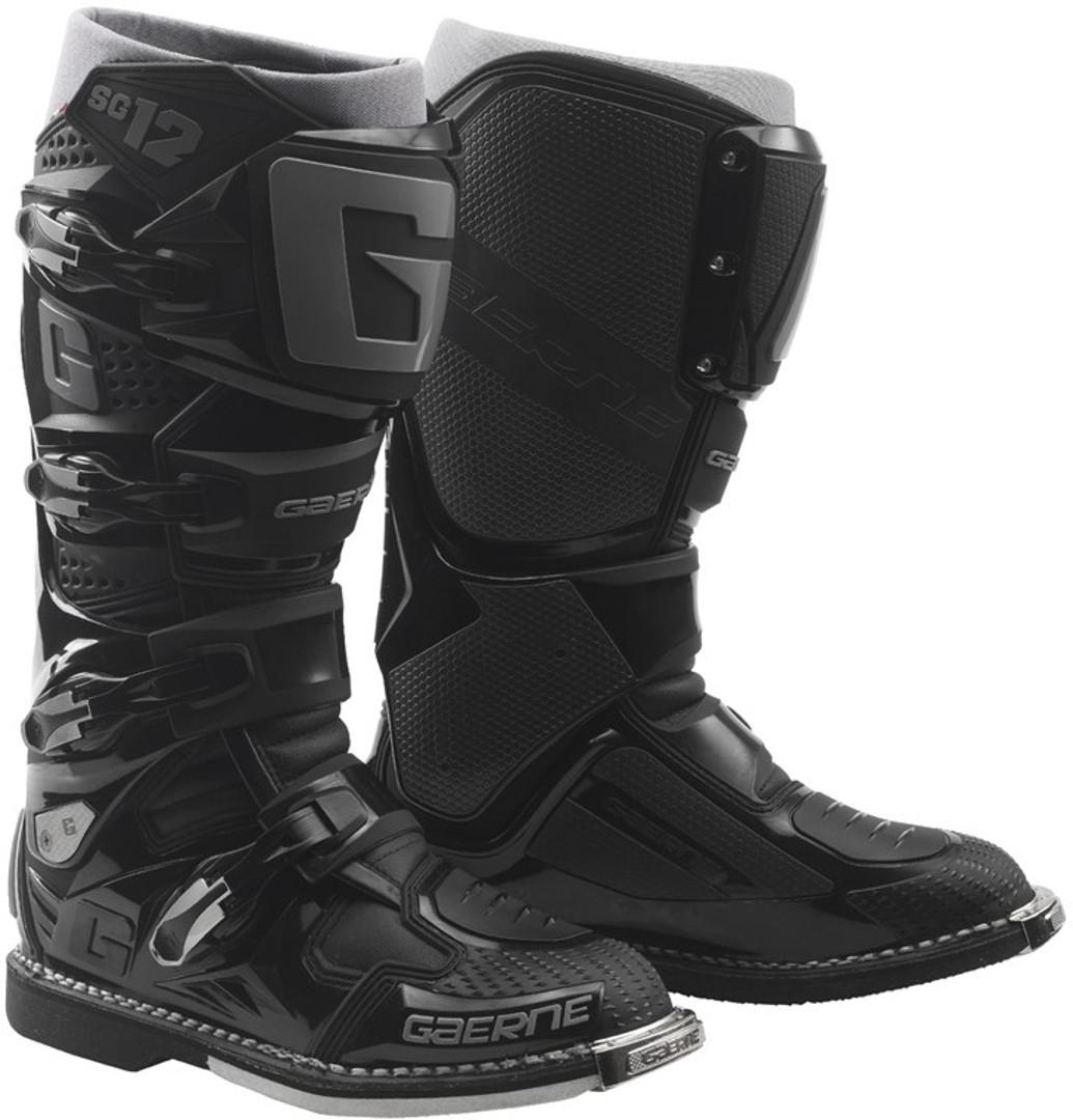 Gaerne SG-12 Enduro Motocross Stiefel, schwarz, Größe 48, schwarz, Größe 48