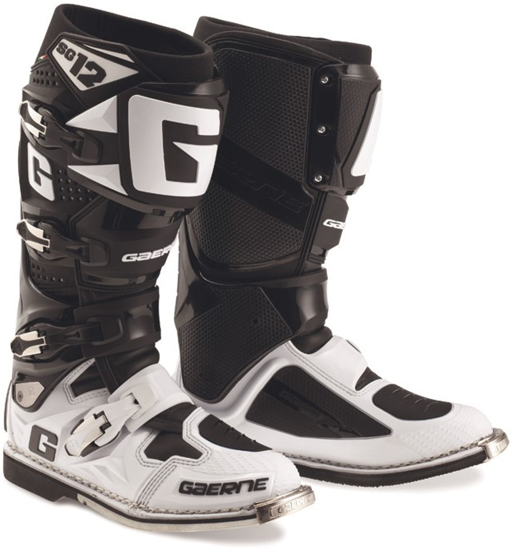 Gaerne SG-12 Limited Edition Motocross Stiefel, schwarz-weiss, Größe 47, schwarz-weiss, Größe 47