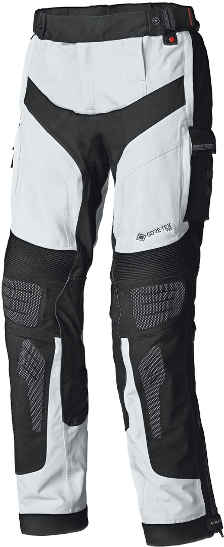 Held Atacama Base Gore-Tex Motorrad Textilhose, grau-rot, Größe XL, grau-rot, Größe XL