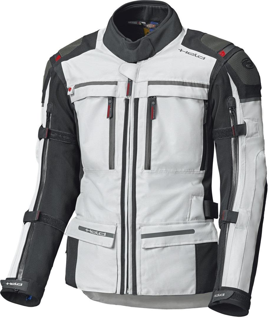 Held Atacama Top Gore-Tex Motorrad Textiljacke, grau-rot, Größe 2XL, grau-rot, Größe 2XL