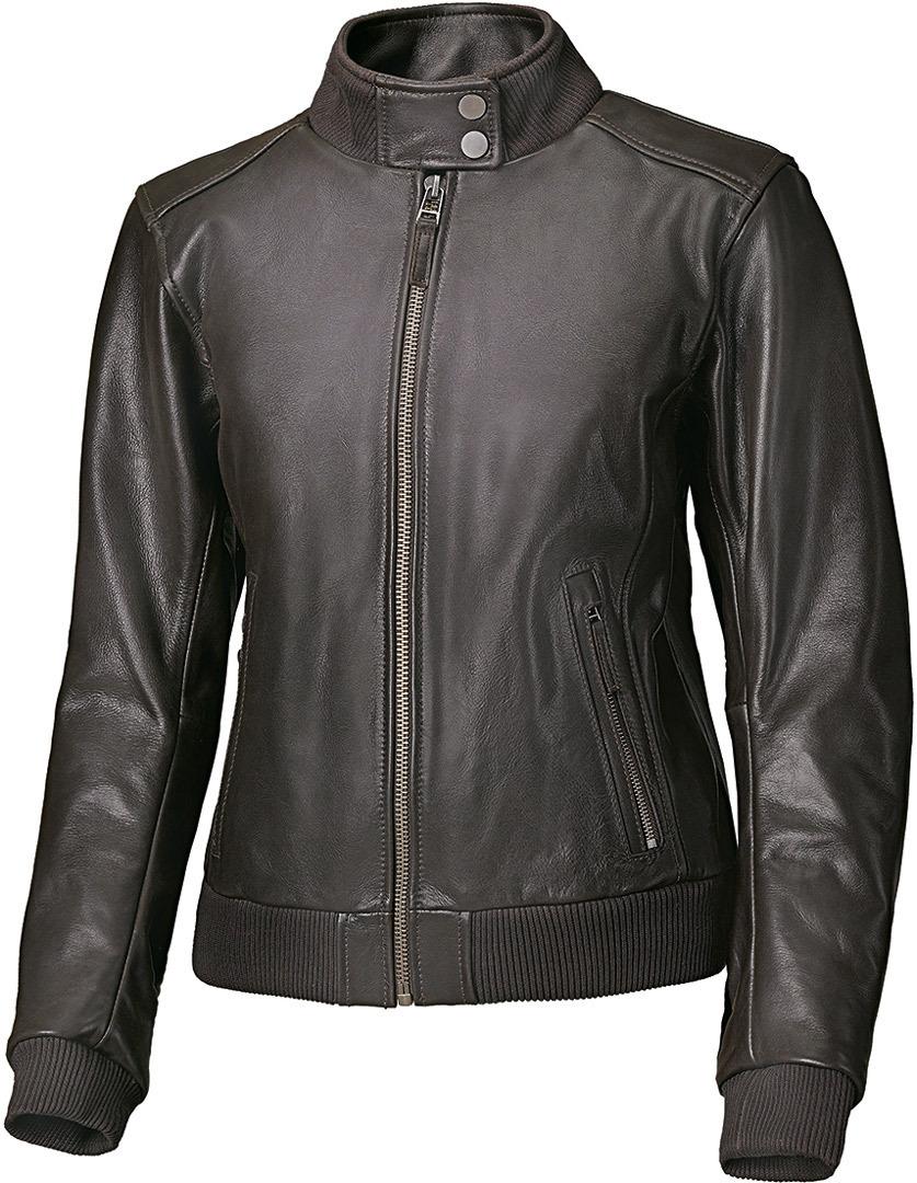 Held Barron Damen Motorrad Lederjacke, braun, Größe 44, braun, Größe 44