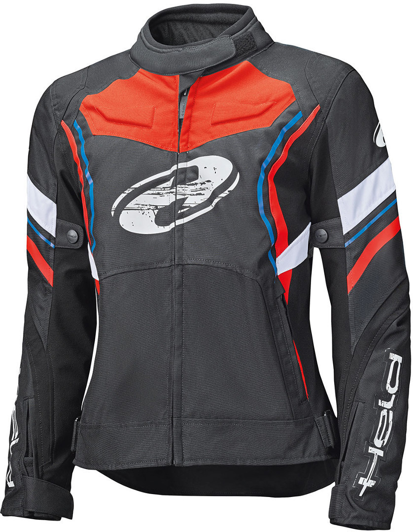 Held Baxley Top Damen Motorrad Textiljacke, schwarz-rot-blau, Größe L, schwarz-rot-blau, Größe L