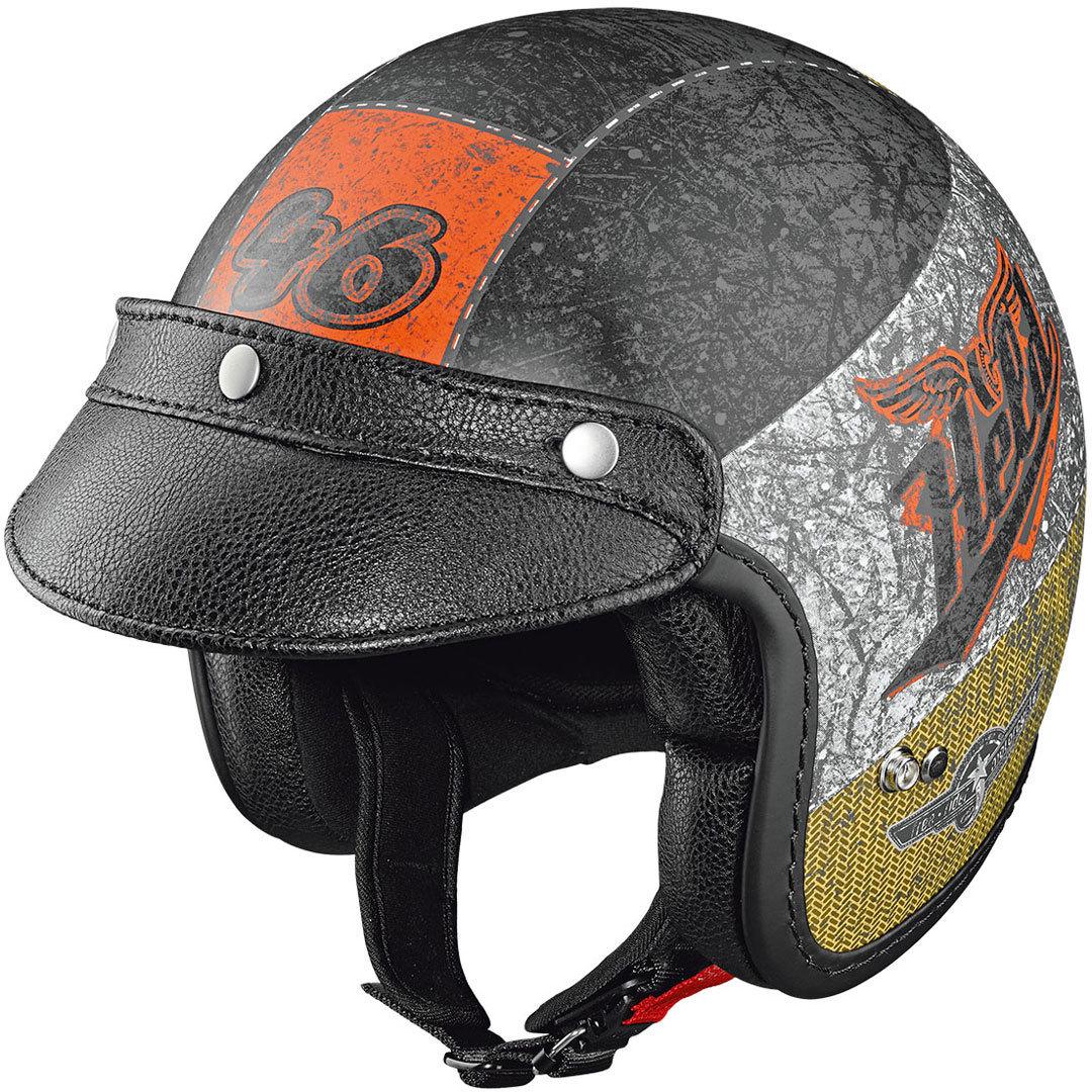 Held Black Bob Jethelm Design crushed, schwarz-orange, Größe S, schwarz-orange, Größe S