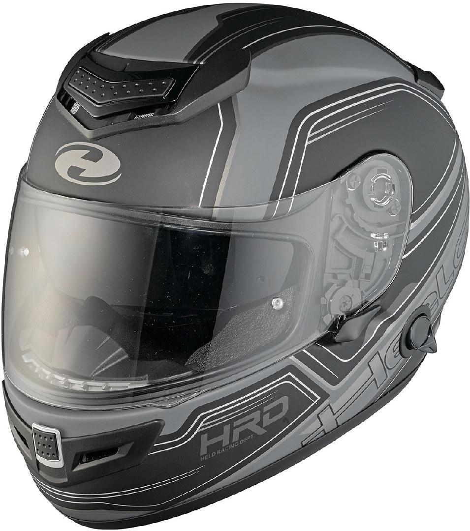 Held Brave II Motorradhelm Dekor, schwarz-grau, Größe 2XL, schwarz-grau, Größe 2XL