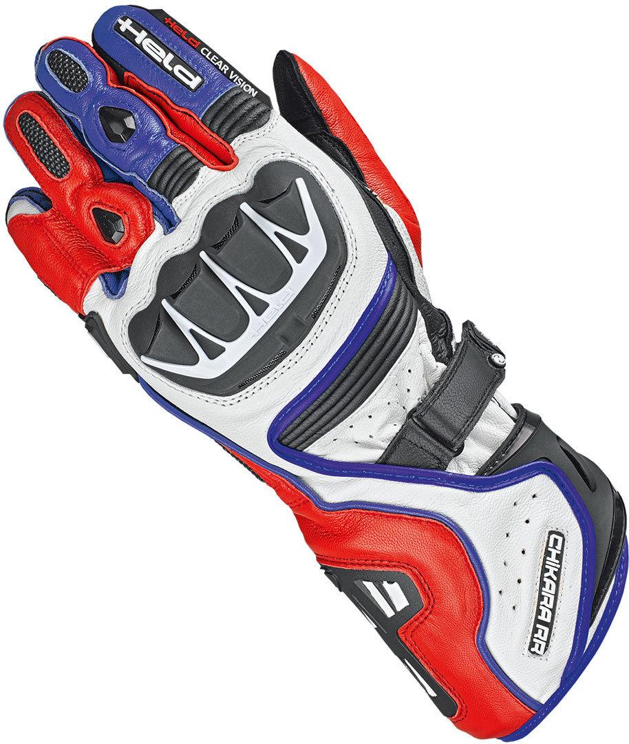 Held Chikara RR Handschuhe, weiss-rot-blau, Größe S M, weiss-rot-blau, Größe S M