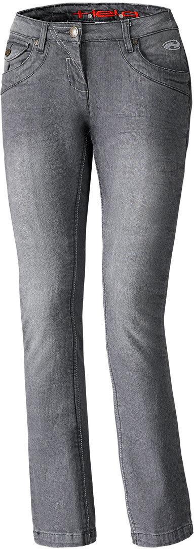 Held Crane Damen Motorrad Jeanshose, schwarz-grau, Größe 27, schwarz-grau, Größe 27