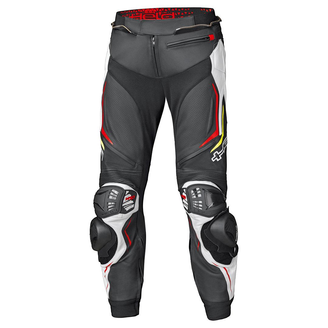 Held Grind II Motorrad Lederhose, schwarz-weiss-rot, Größe 56 58, schwarz-weiss-rot, Größe 56 58