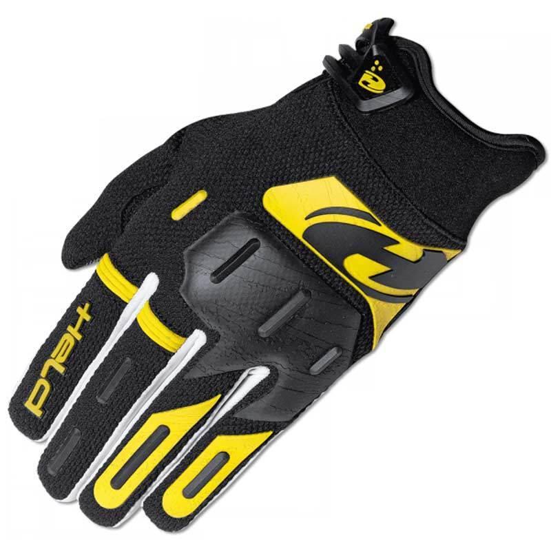 Held Hardtack Motocross Handschuhe, schwarz-gelb, Größe L, schwarz-gelb, Größe L