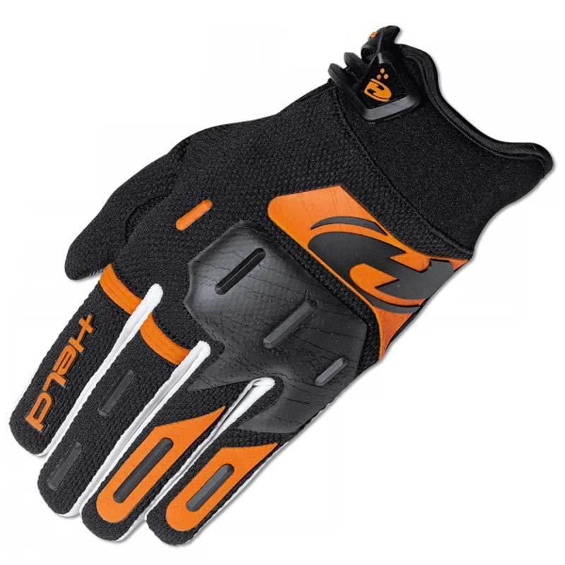 Held Hardtack Motocross Handschuhe, schwarz-orange, Größe M, schwarz-orange, Größe M