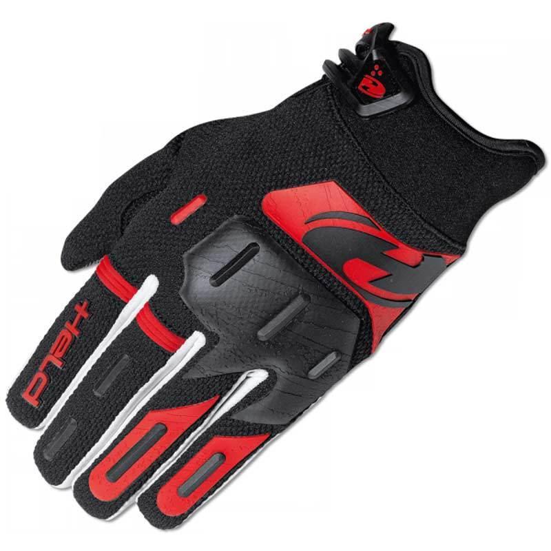 Held Hardtack Motocross Handschuhe, schwarz-rot, Größe L, schwarz-rot, Größe L