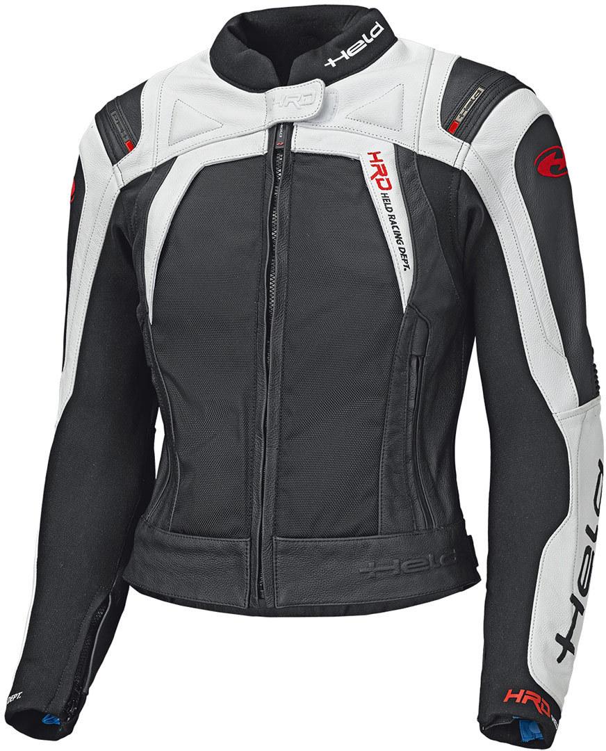 Held Hashiro II Damen Motorrad Lederjacke, schwarz-weiss, Größe 36, schwarz-weiss, Größe 36