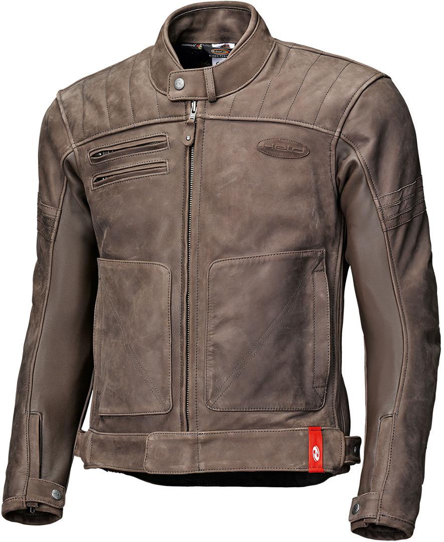 Held Hot Rock Motorrad Lederjacke, braun, Größe L, braun, Größe L