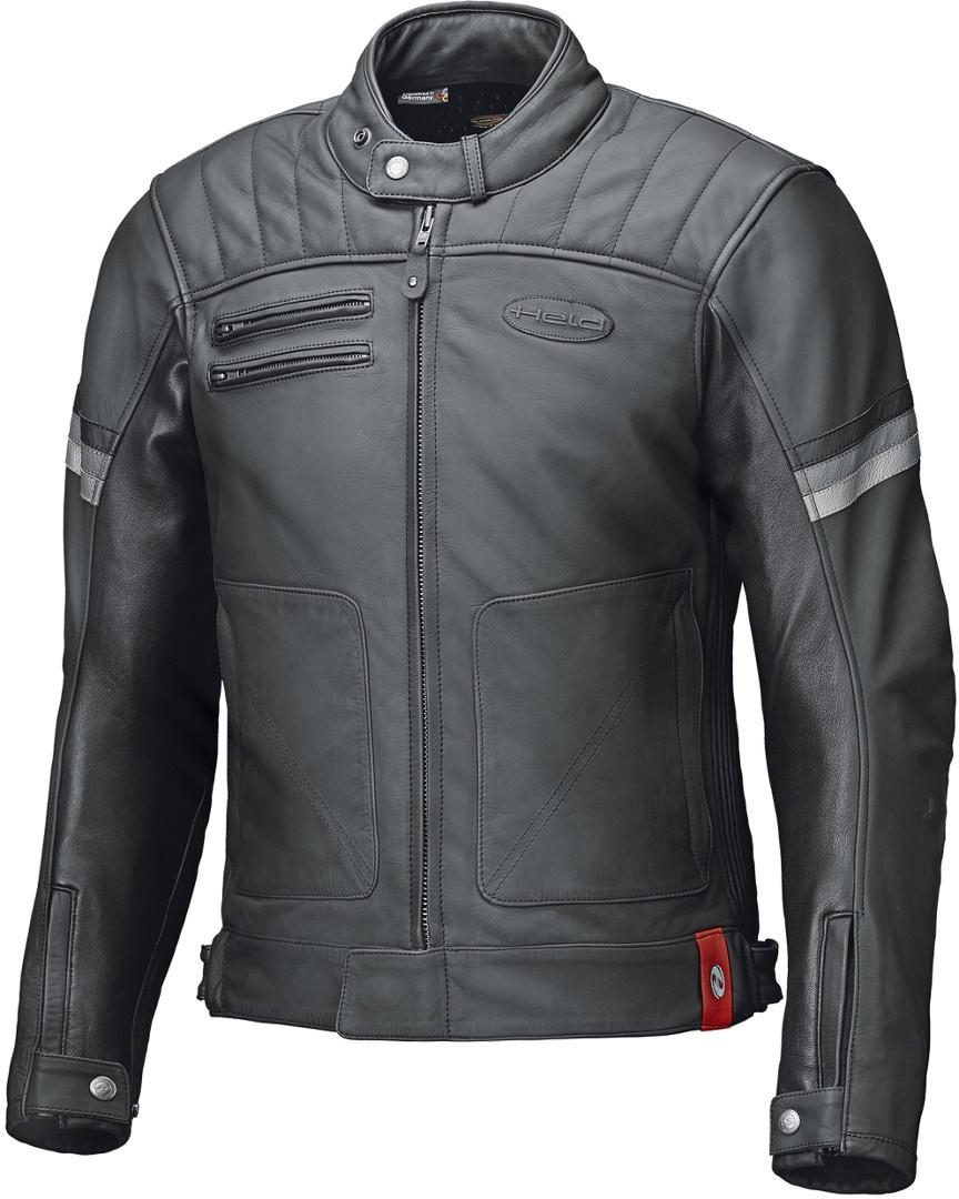 Held Hot Rock Motorrad Lederjacke, schwarz, Größe L, schwarz, Größe L