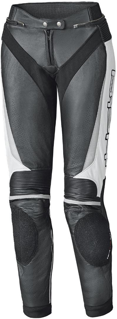 Held Lane II Damen Motorrad Lederhose, schwarz-weiss, Größe L, schwarz-weiss, Größe L