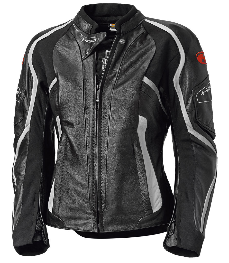 Held Namiko Damen Motorrad Lederjacke, schwarz-weiss, Größe 38, schwarz-weiss, Größe 38