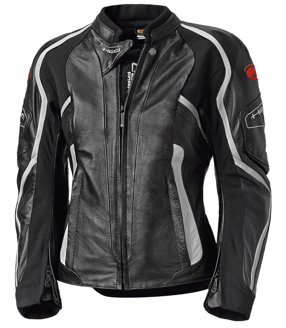 Held Namiko Damen Motorrad Lederjacke, schwarz-weiss, Größe 44, schwarz-weiss, Größe 44