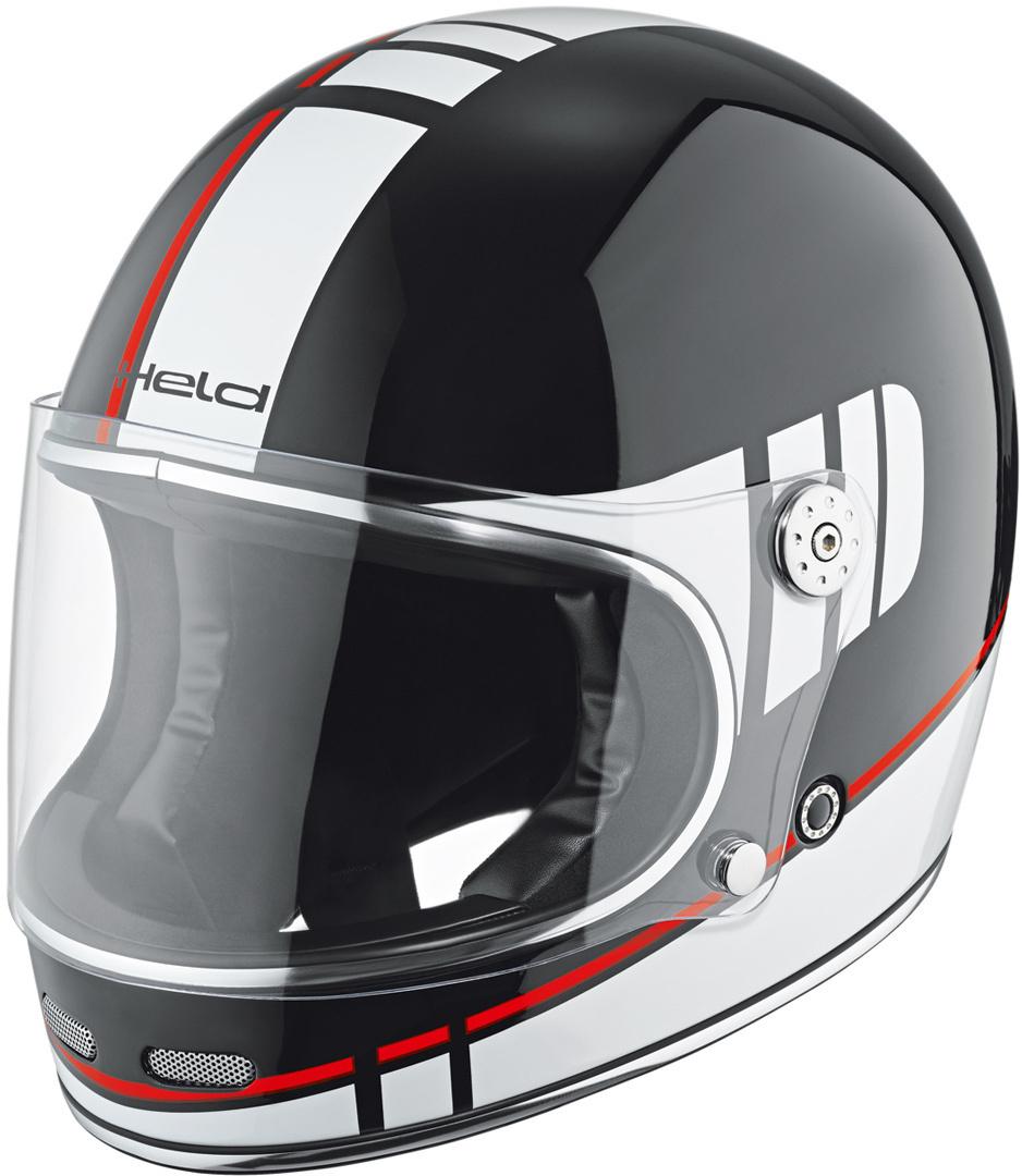 Held Root Motorradhelm Dekor, schwarz-weiss-rot, Größe S, schwarz-weiss-rot, Größe S