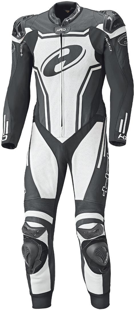 Held Rush 1-Teiler Motorrad Lederkombi, schwarz-weiss, Größe 46, schwarz-weiss, Größe 46