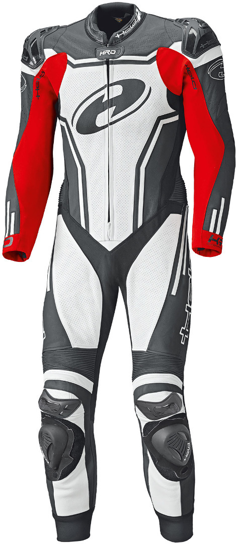 Held Rush 1-Teiler Motorrad Lederkombi, schwarz-weiss-rot, Größe 46, schwarz-weiss-rot, Größe 46