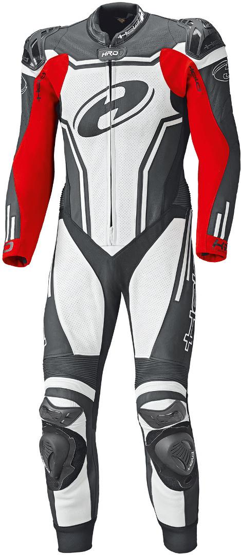 Held Rush 1-Teiler Motorrad Lederkombi, schwarz-weiss-rot, Größe 54, schwarz-weiss-rot, Größe 54