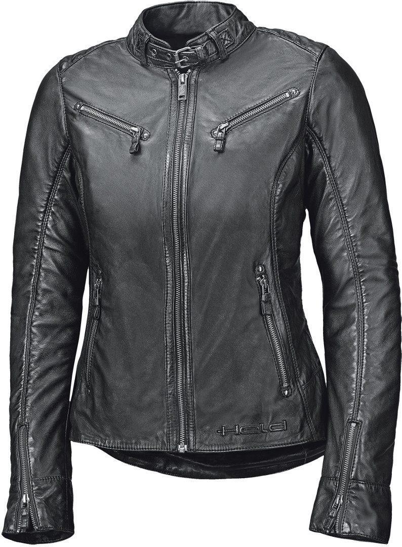 Held Sabira Damen Motorrad Lederjacke, schwarz, Größe 34, schwarz, Größe 34