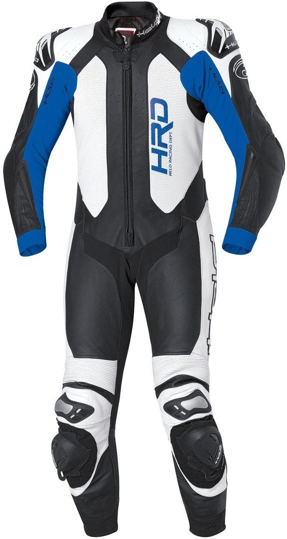 Held Slade 1-Teiler Motorrad Lederkombi, schwarz-blau, Größe 46, schwarz-blau, Größe 46
