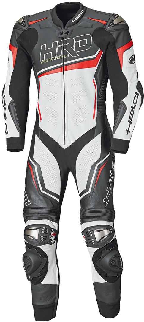 Held Slade II 1-Teiler Motorrad Lederkombi, schwarz-weiss-rot, Größe 48, schwarz-weiss-rot, Größe 48