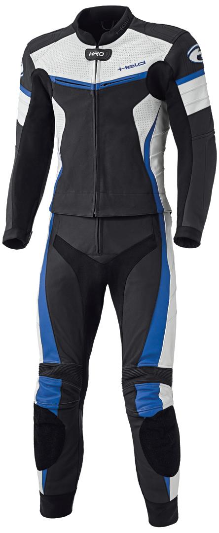 Held Spire 2-Teiler Motorrad Lederkombi, schwarz-blau, Größe 56, schwarz-blau, Größe 56