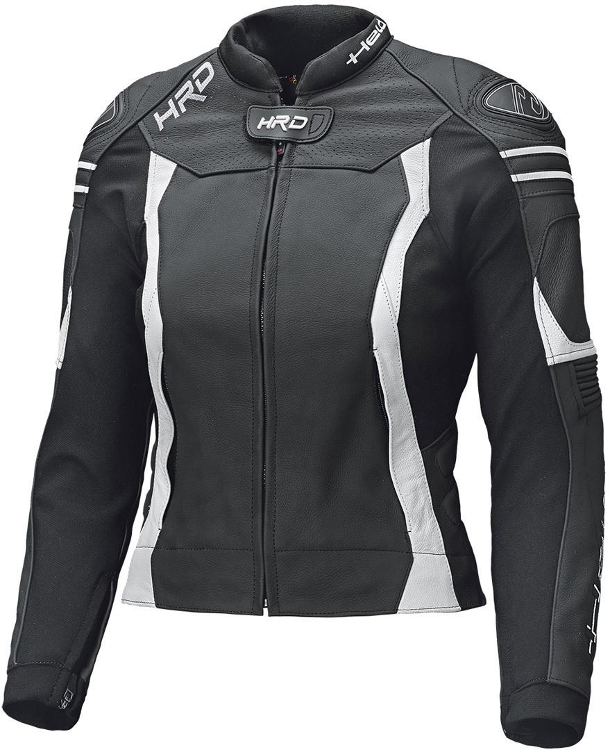 Held Street 3.0 Damen Motorrad Lederjacke, schwarz-weiss, Größe L, schwarz-weiss, Größe L