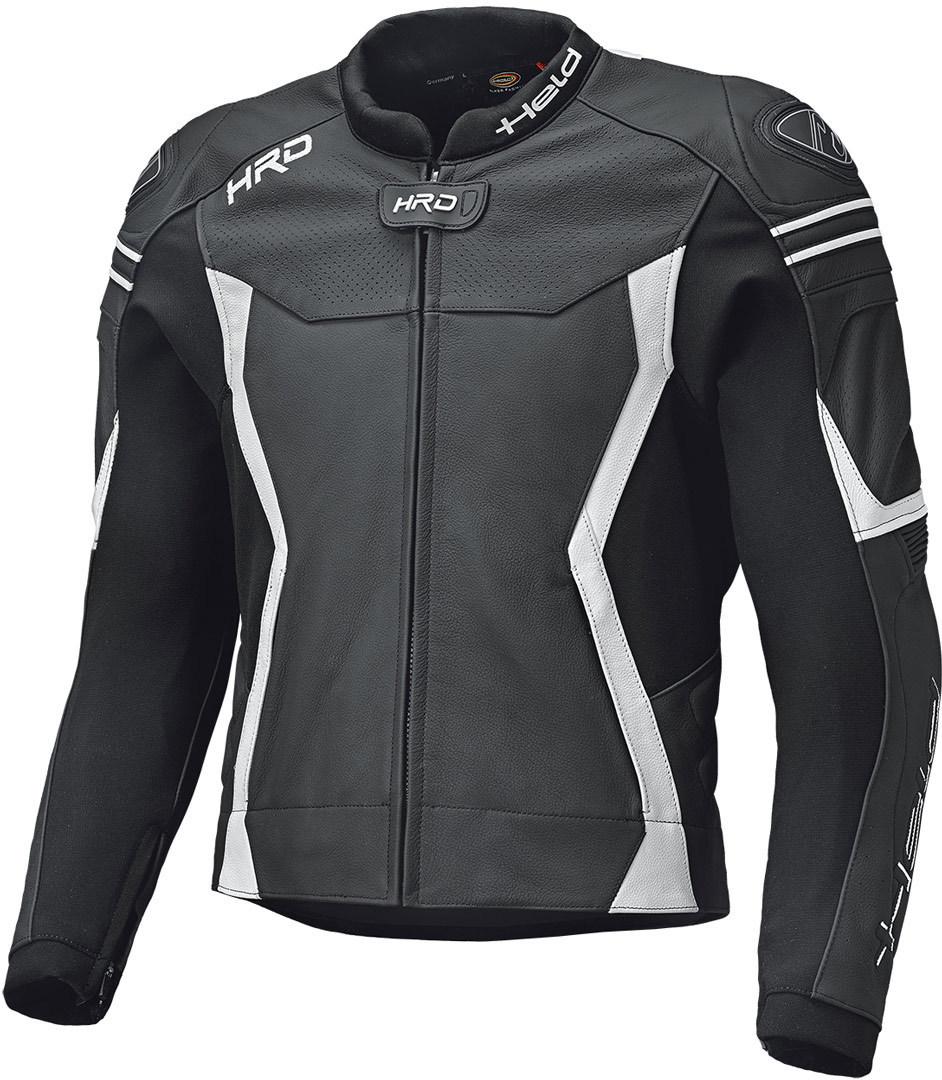Held Street 3.0 Motorrad Lederjacke, schwarz-weiss, Größe 48, schwarz-weiss, Größe 48
