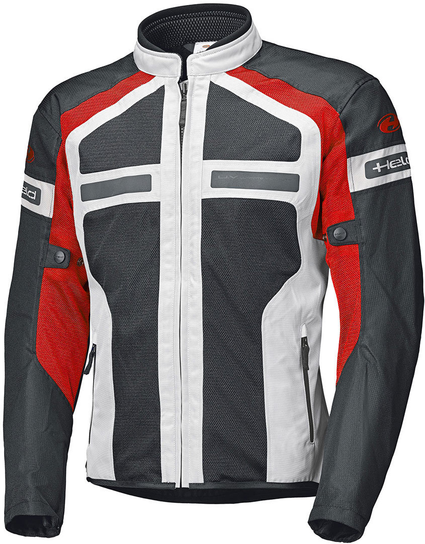 Held Tropic 3.0 Motorrad Textiljacke, grau-rot, Größe S, grau-rot, Größe S
