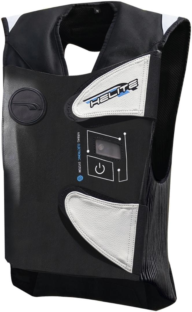 Helite e-GP-Air Airbag Weste, schwarz-weiss, Größe S, schwarz-weiss, Größe S