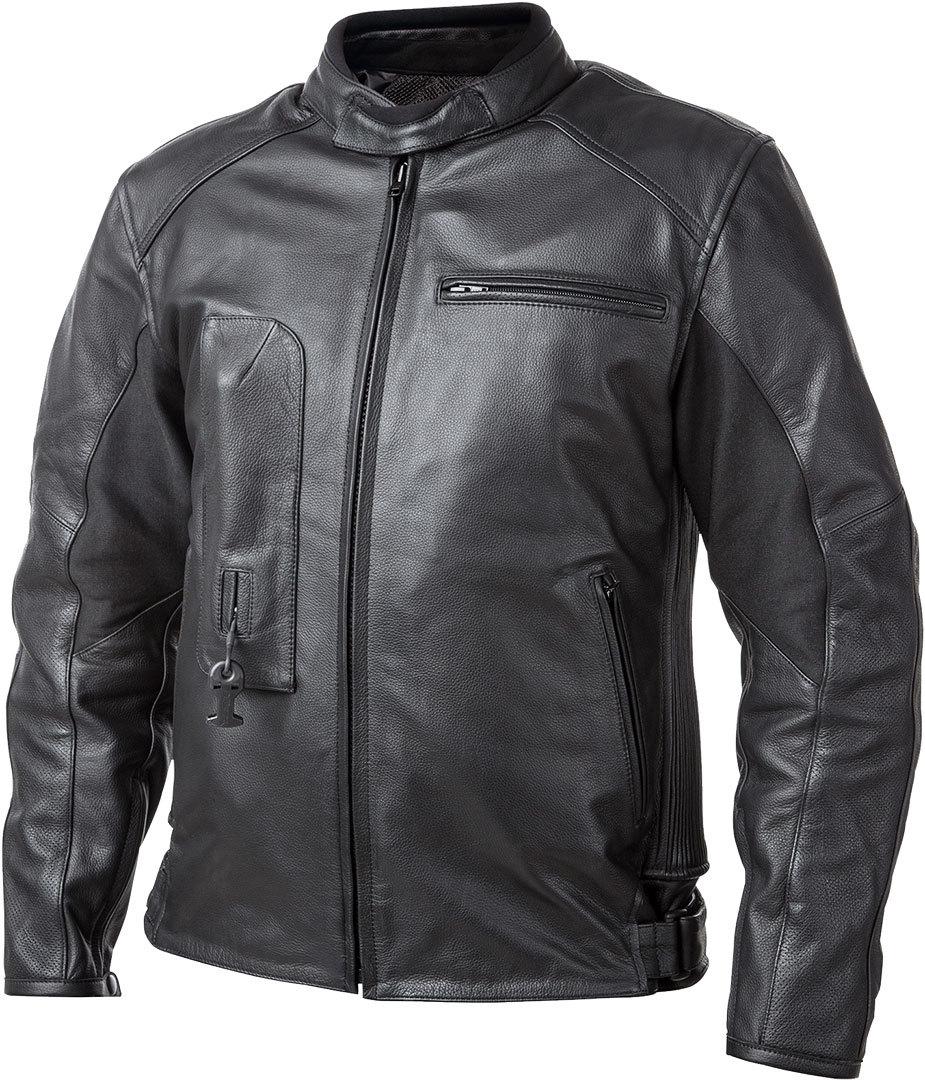 Helite Roadster Airbag Motorrad Lederjacke, schwarz, Größe 4XL, schwarz, Größe 4XL