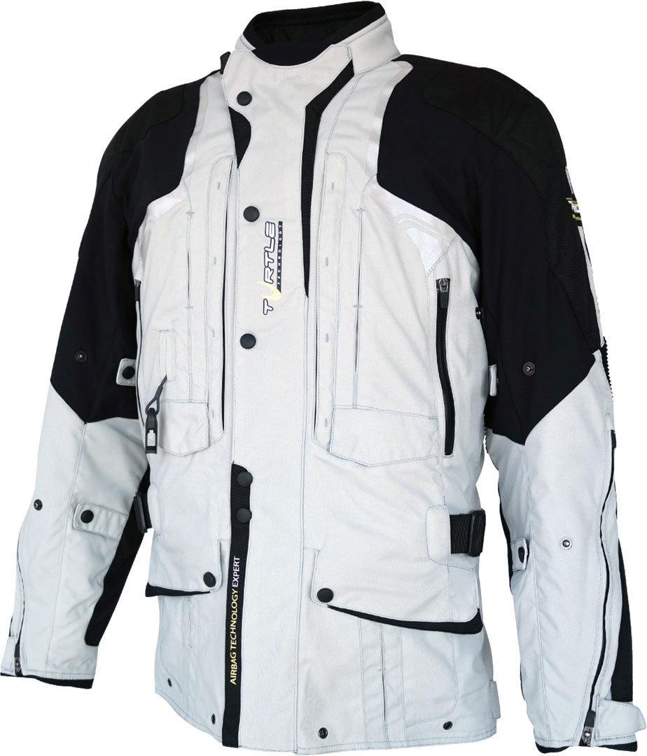 Helite Touring 2.0 Airbag Motorrad Textiljacke, schwarz-grau, Größe XL, schwarz-grau, Größe XL