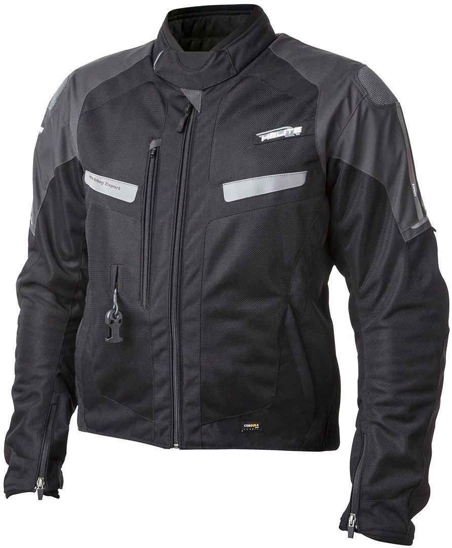 Helite Vented 2.0 Airbag Motorrad Textiljacke, schwarz, Größe 2XL, schwarz, Größe 2XL
