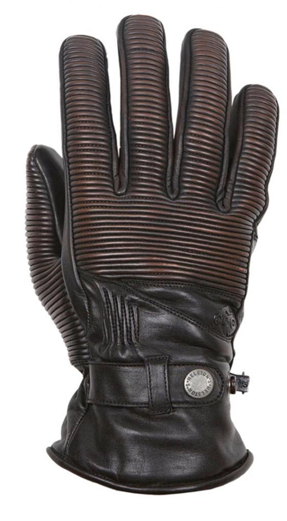 Helstons Camaro wasserdichte Motorradhandschuhe, schwarz-braun, Größe 2XL, schwarz-braun, Größe 2XL