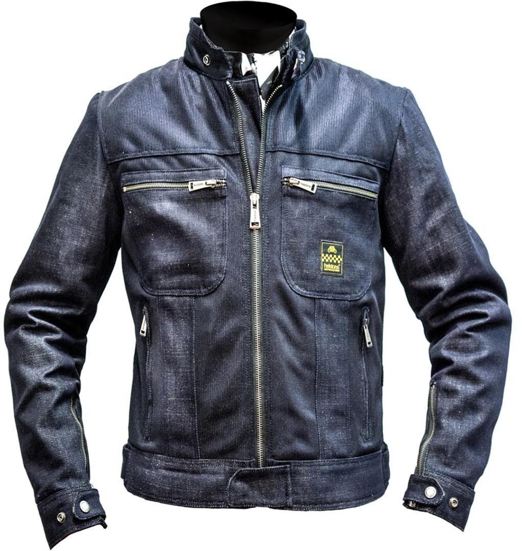 Helstons Genesis Damen Motorrad Textiljacke, blau, Größe L, blau, Größe L