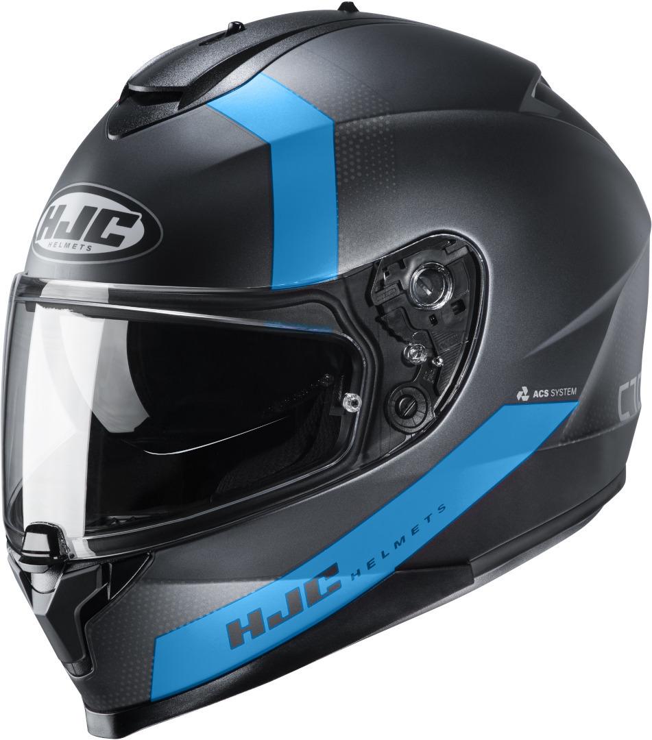 HJC C70 Eura Helm, schwarz-blau, Größe L, schwarz-blau, Größe L