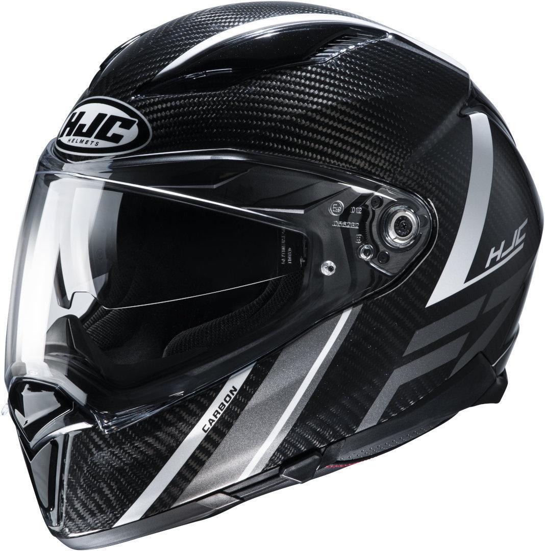 HJC F70 Carbon Eston Helm, schwarz-grau, Größe L, schwarz-grau, Größe L