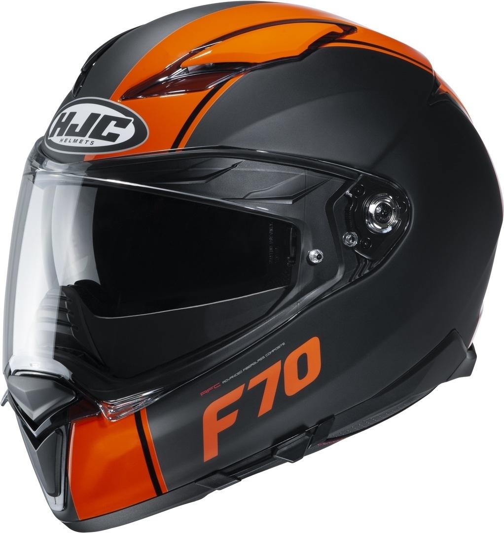 HJC F70 Mago Helm, schwarz-orange, Größe XS, schwarz-orange, Größe XS