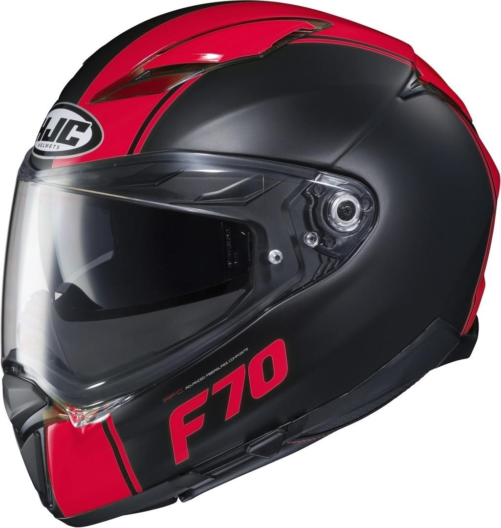 HJC F70 Mago Helm, schwarz-rot, Größe M, schwarz-rot, Größe M