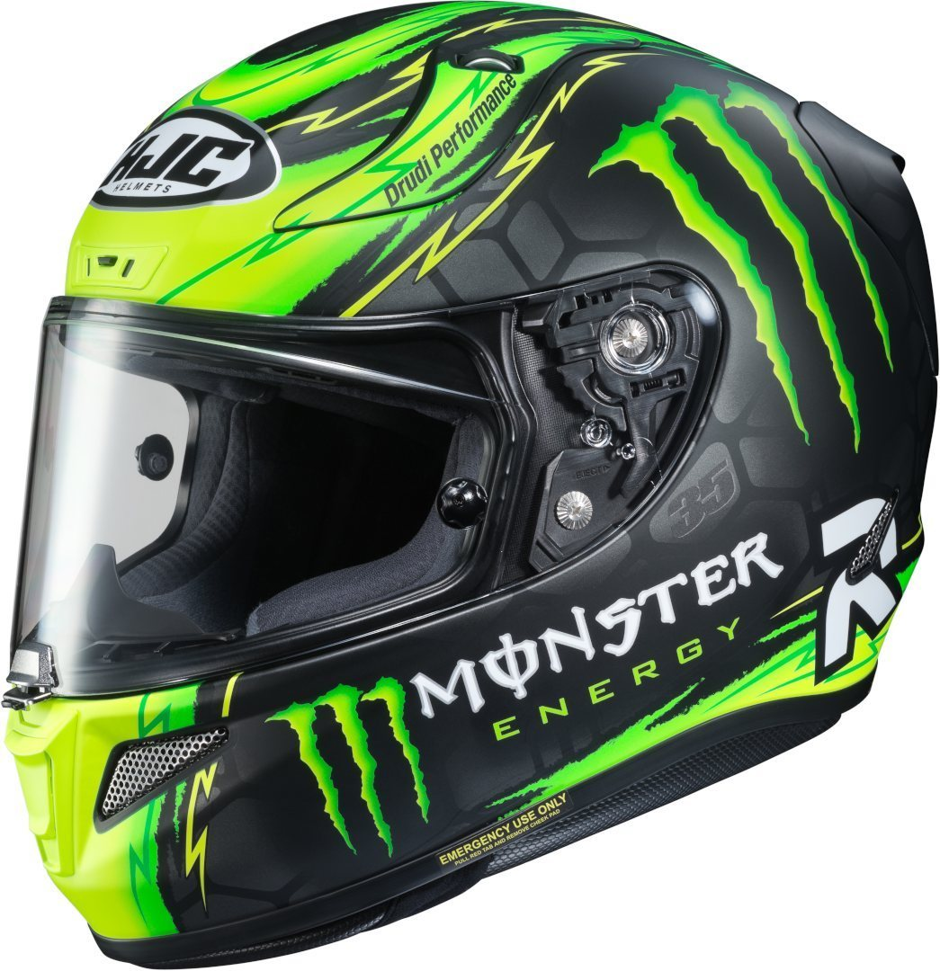 HJC RPHA 11 Crutchlow Replica Helm, schwarz-grün, Größe M, schwarz-grün, Größe M