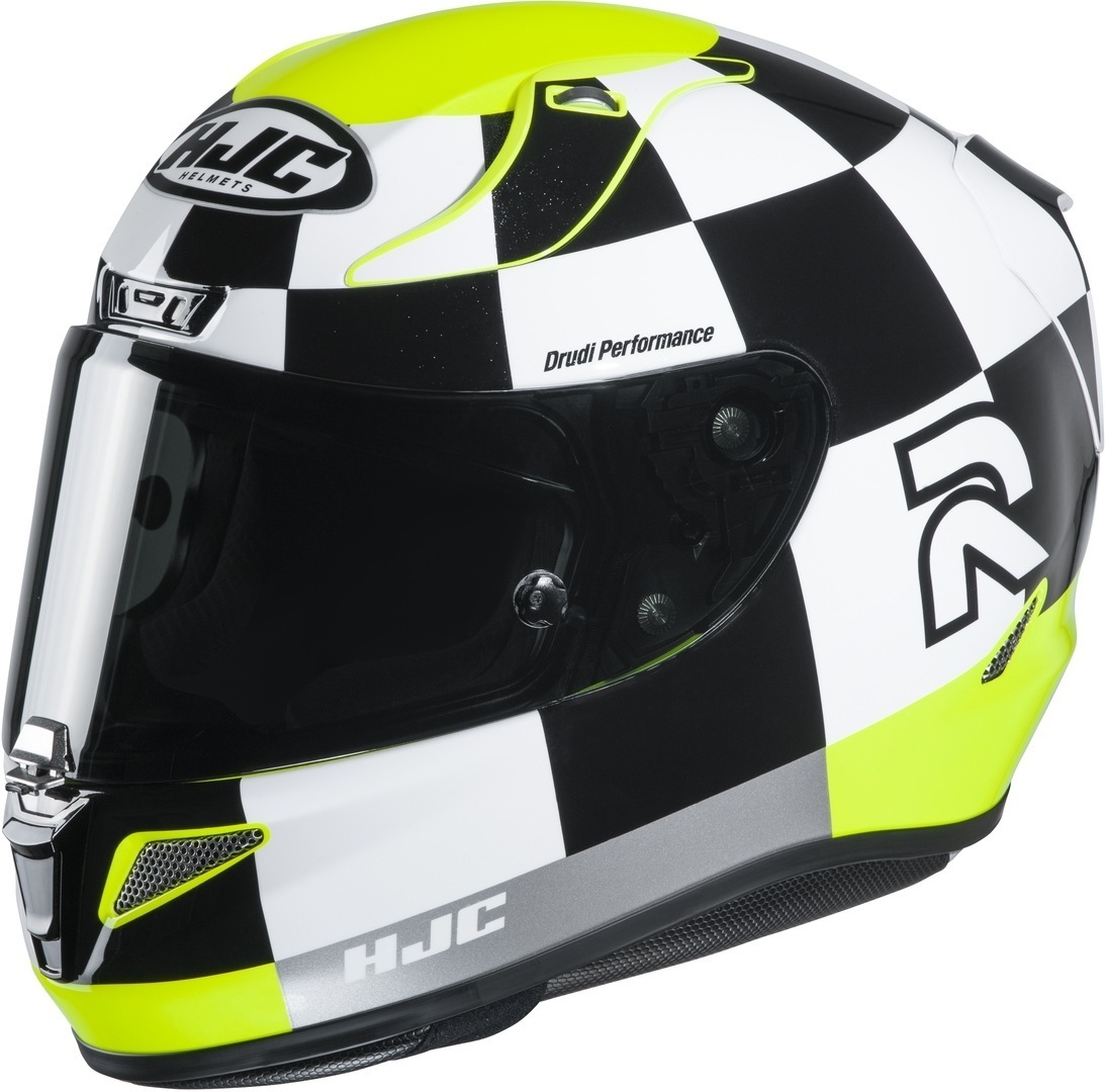 HJC RPHA 11 Misano Helm, schwarz-weiss-gelb, Größe M, schwarz-weiss-gelb, Größe M
