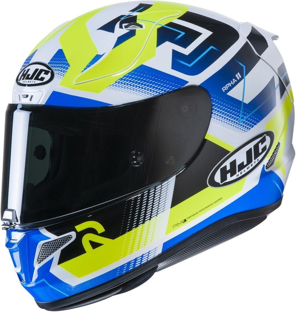 HJC RPHA 11 Nectus Helm, weiss-blau-gelb, Größe XL, weiss-blau-gelb, Größe XL