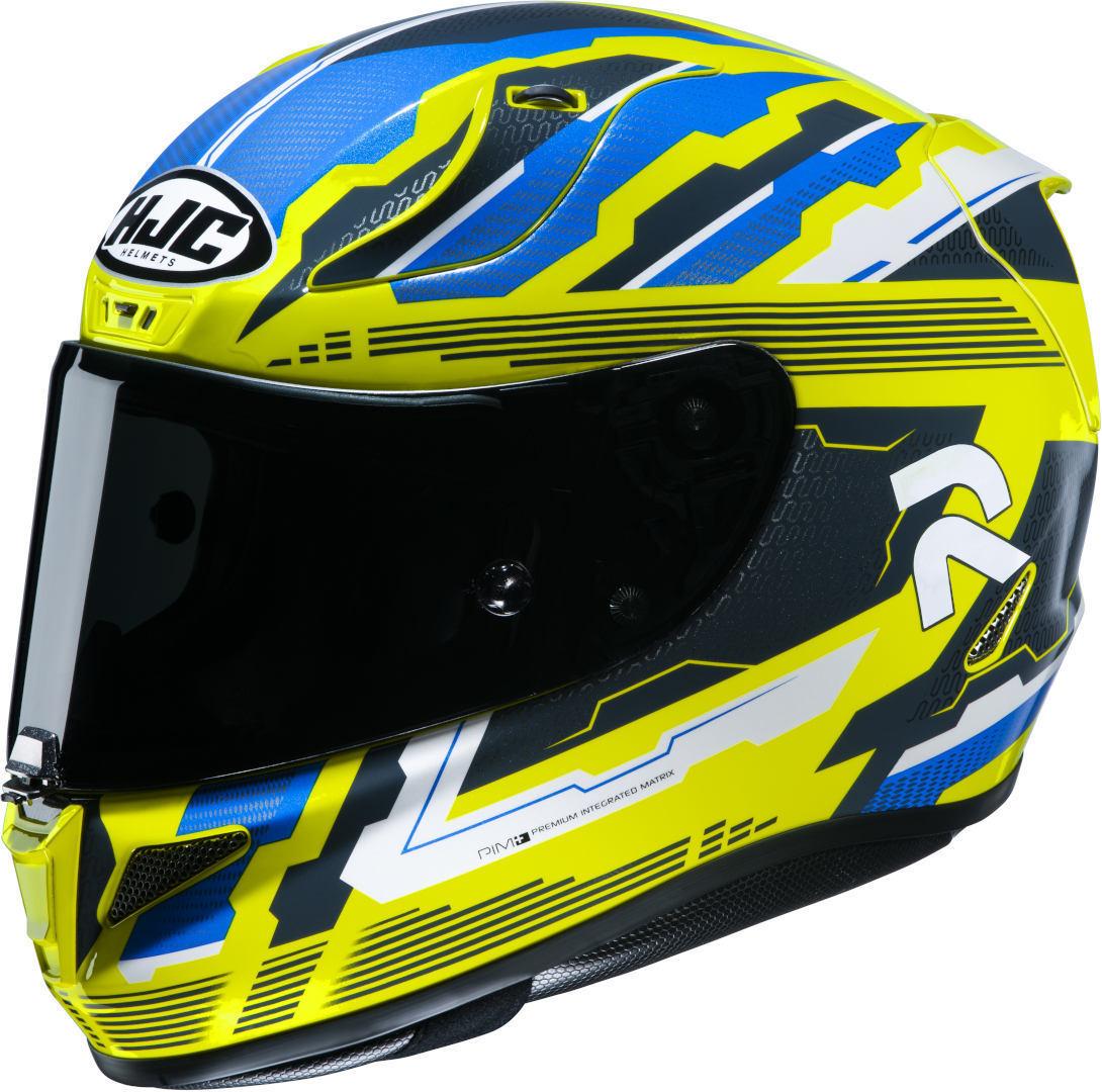 HJC RPHA 11 Stobon Helm, blau-gelb, Größe XL, blau-gelb, Größe XL
