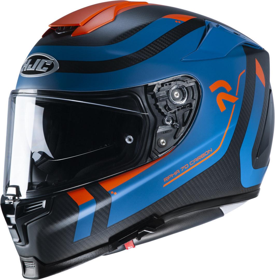 HJC RPHA 70 Carbon Reple Helm, schwarz-blau, Größe XL, schwarz-blau, Größe XL