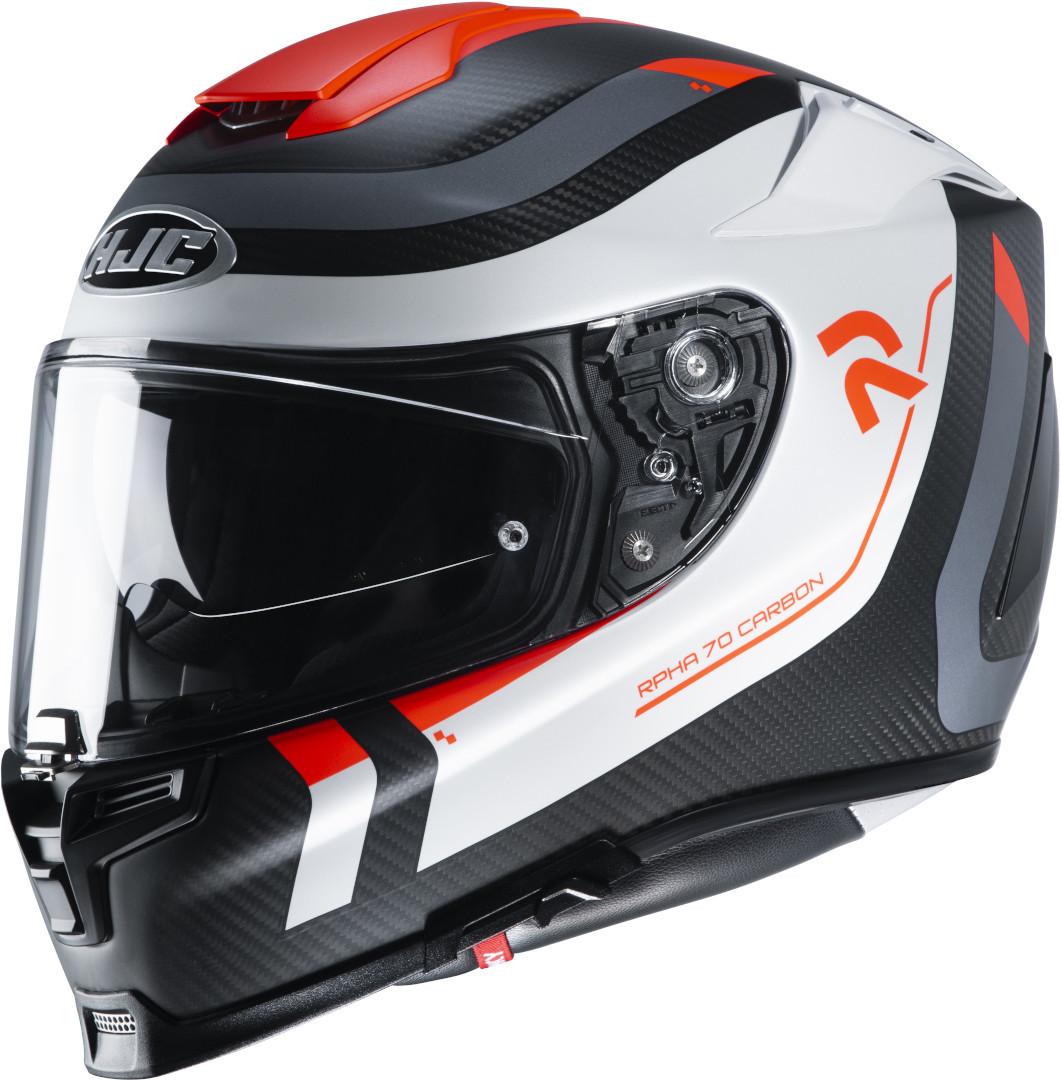 HJC RPHA 70 Carbon Reple Helm, schwarz-weiss-rot, Größe S, schwarz-weiss-rot, Größe S